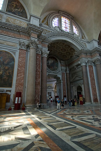 The halls of St. Mary of the Angels and Martyrs in Rome, Italy