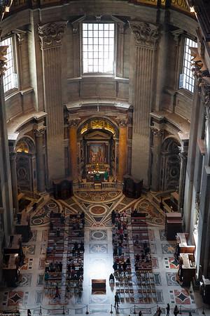 Rome - Inside the Dome of Saint Peter's Basilica