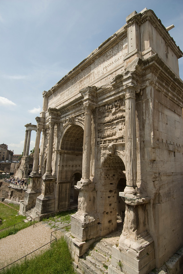 Ruins at the Roman Forum in Rome, Italy