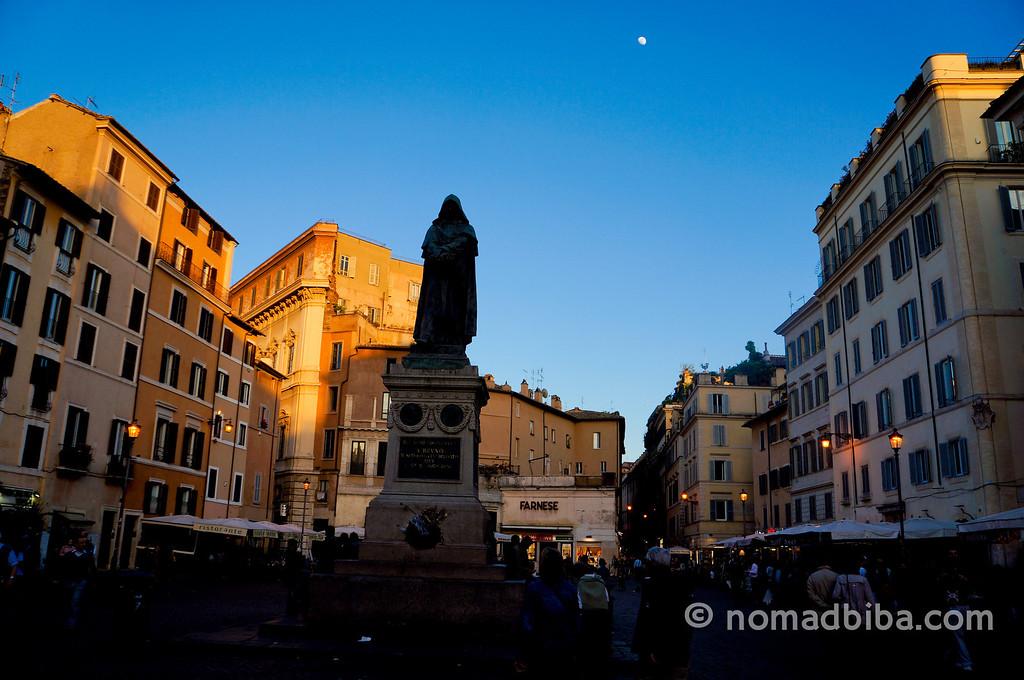 Campo de' Fiori square in Rome, Italy