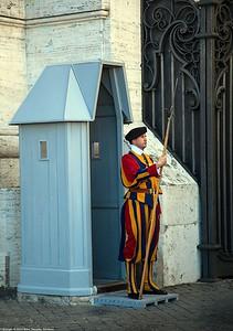 Rome - A Swiss Guard in Vatican