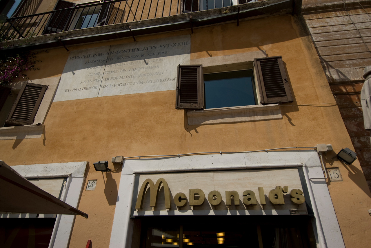McDonald's branch in Rome, Italy