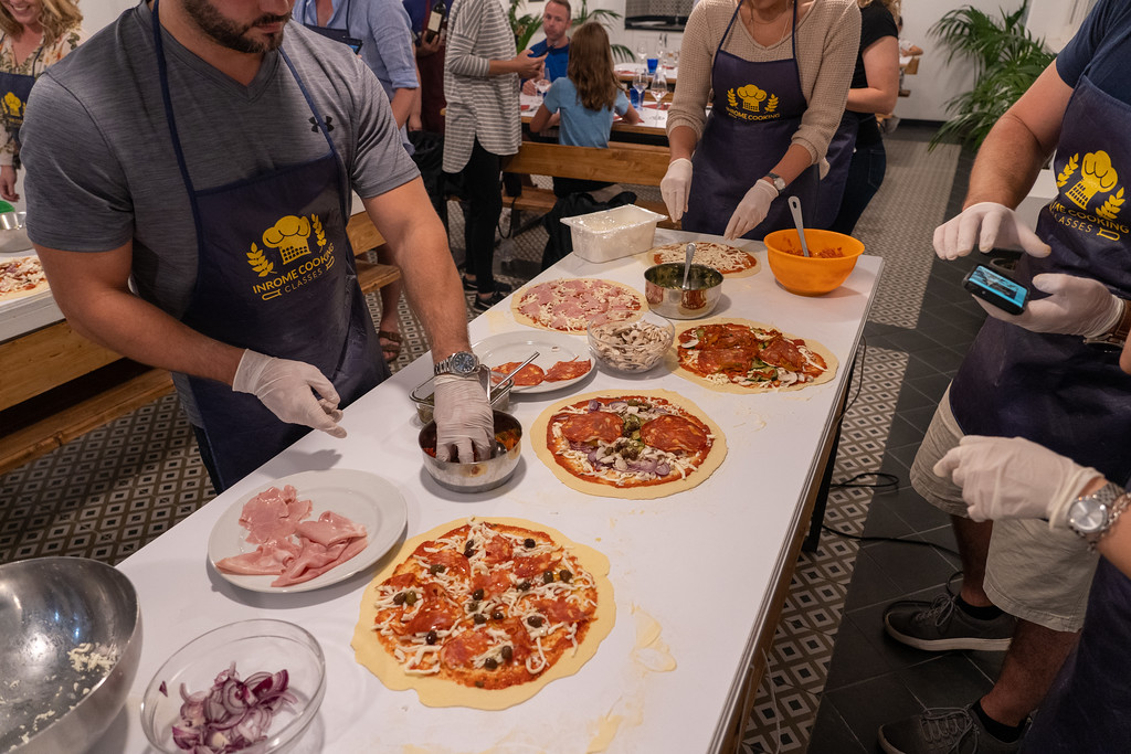 Pizza-making class in Rome