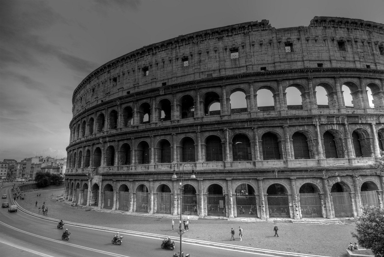 The Colosseum in B&W - Rome, Italy