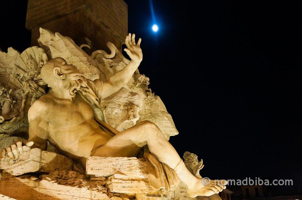 Statue in Roman Fountain