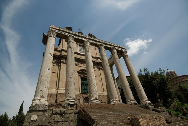 Pillars at the Roman Forum - Rome, Italy
