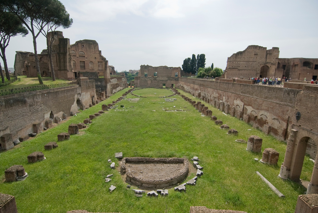 The Emperor's Palace Grounds in Rome, Italy