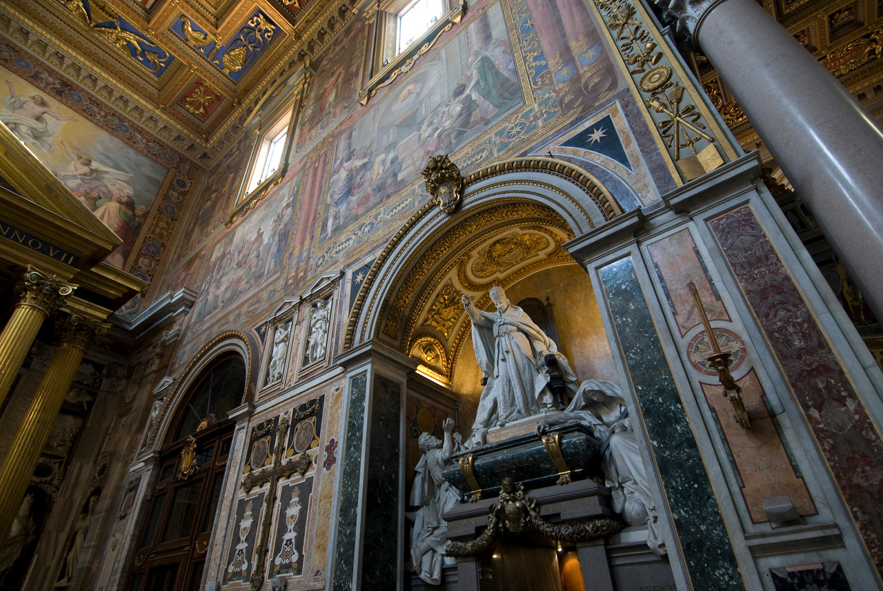 Inside St. Peter's Basilica in Rome, Italy