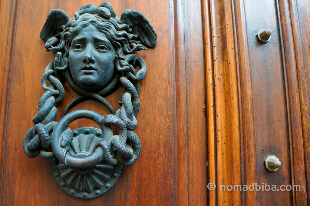 Door knocker in Rome