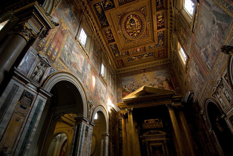 Inside the St. Peter's Basilica in Rome, Italy