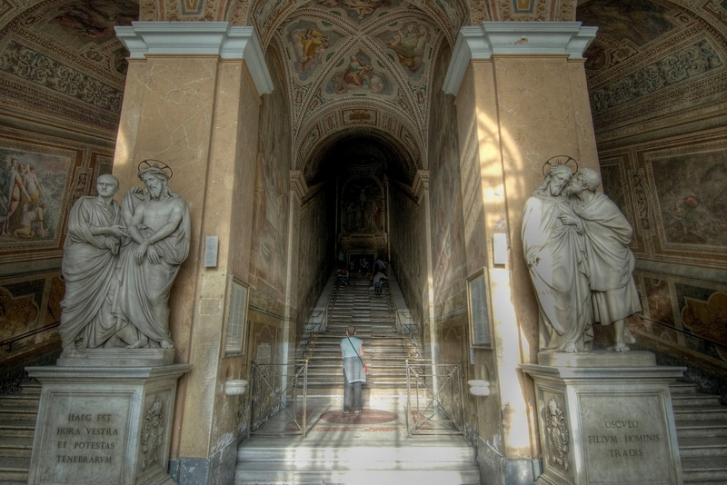 The Holy Staircase in Rome, Italy