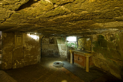 Inside the Mamertine Prison in Rome, Italy