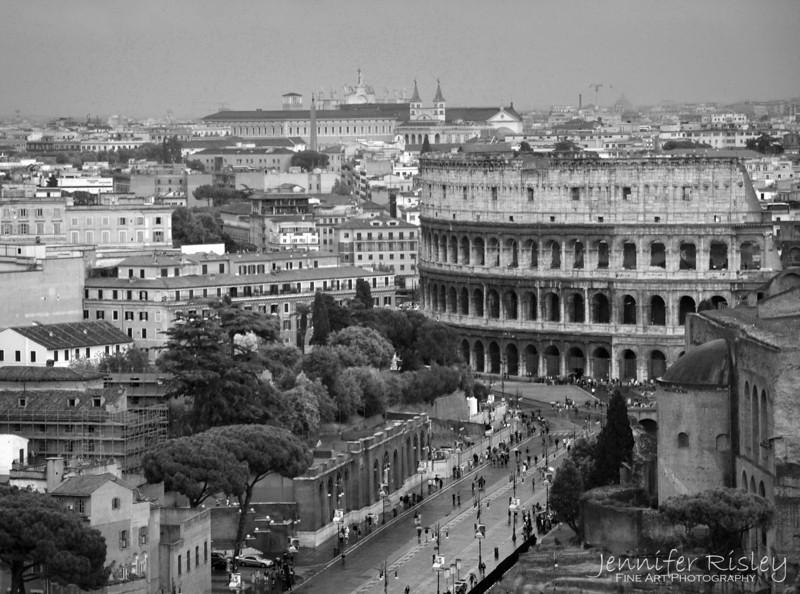 Roman Skyline with Colosseum