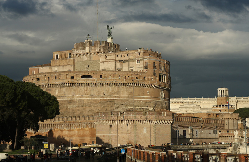 Castel Sant'Angelo, with Archangel Michael on top