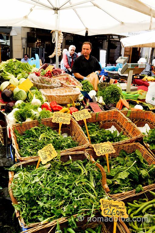 Campo de' Fiori market in Rome, Italy