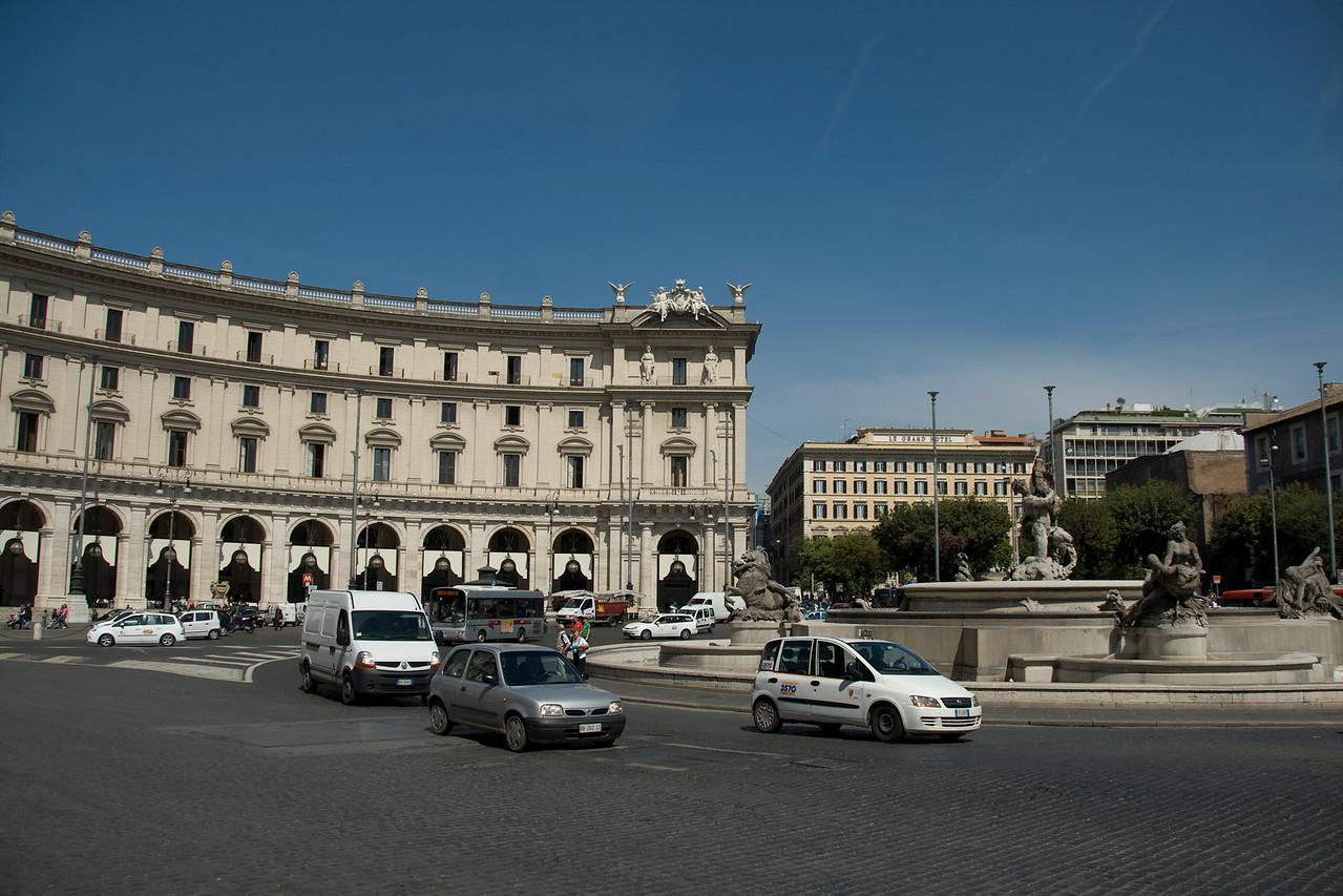 The Fountain of the Naiads on Piazza della Repubblica - Rome, Italy