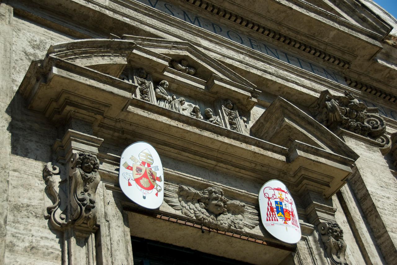 Beautiful Roman architecture in Rome, Italy