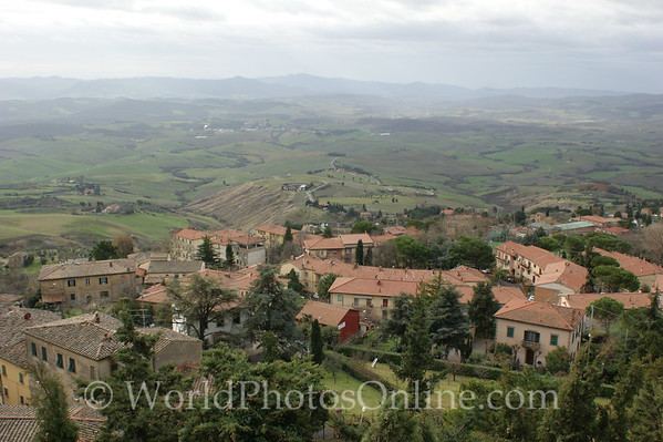 Volterra - Contryside from Town 1