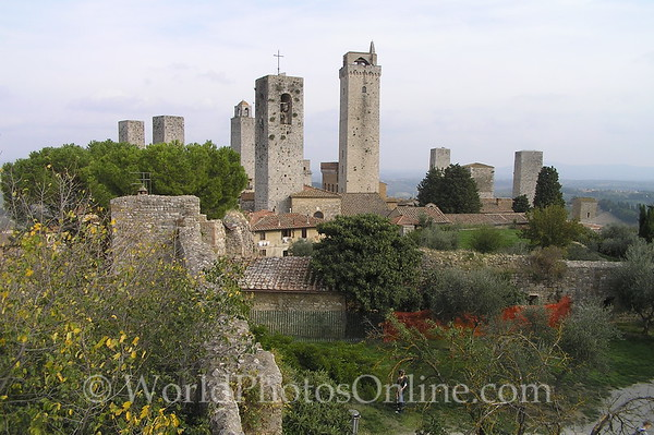 San Gimignano - Remaining towers (once there was 27)