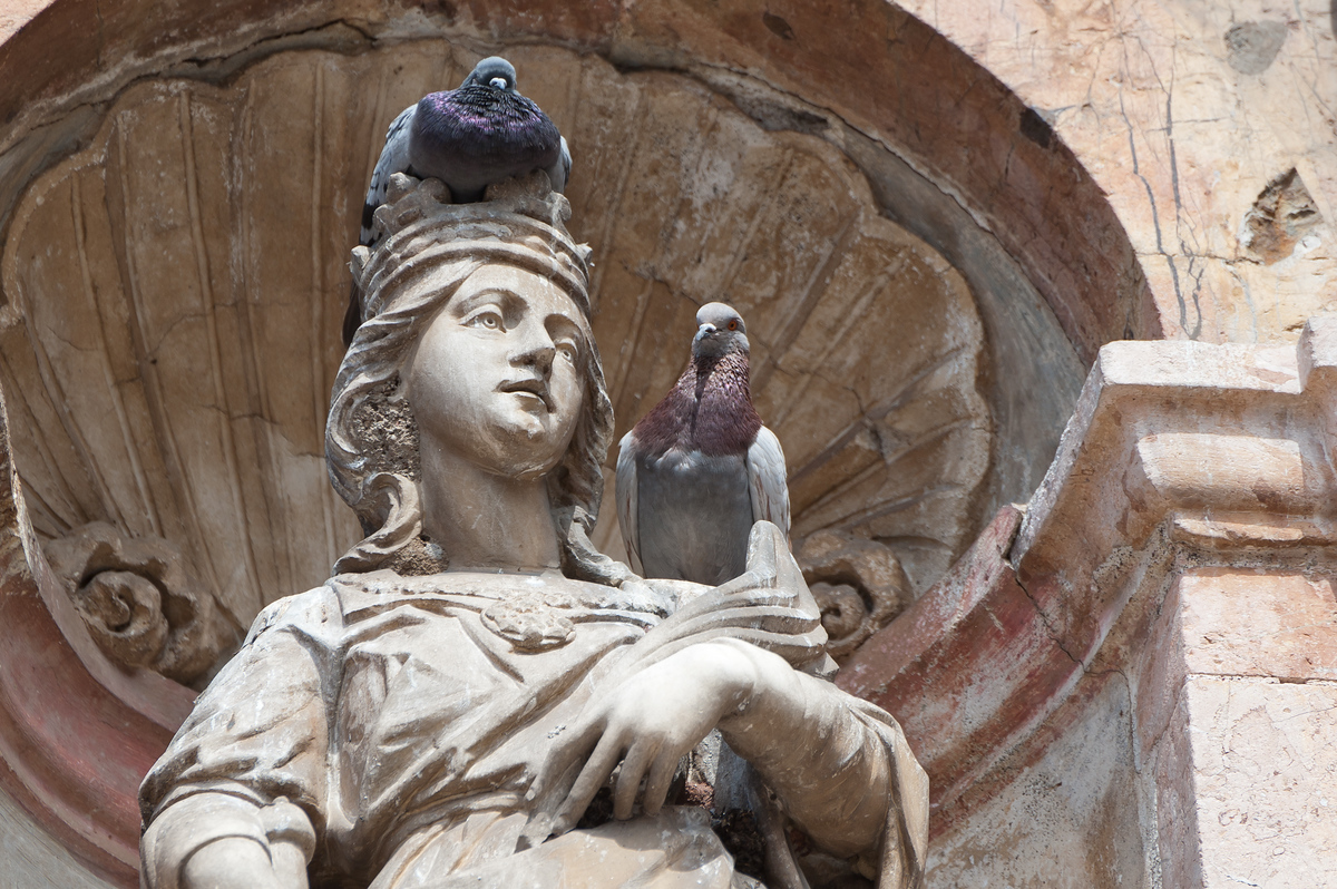 A church statue in Taormina, Sicily