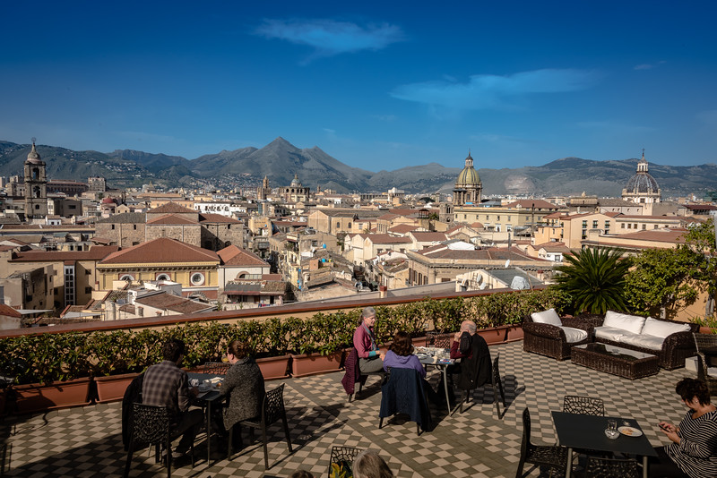 View of Palermo from Roof of Hotel Ambasciatori