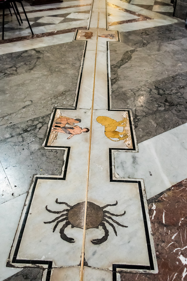 Bronze Line, la Meridiana  Palermo Cathedral