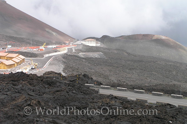 Mt Etna Lava Fields and Tourist Stop