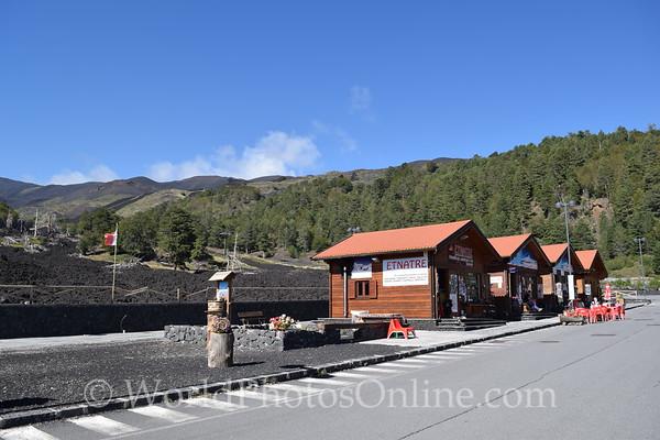 Mt Etna - Shops on Lava Flow