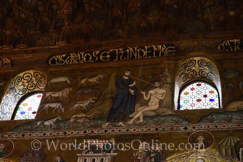 Mosaic of Creation Story in Palatine Chapel