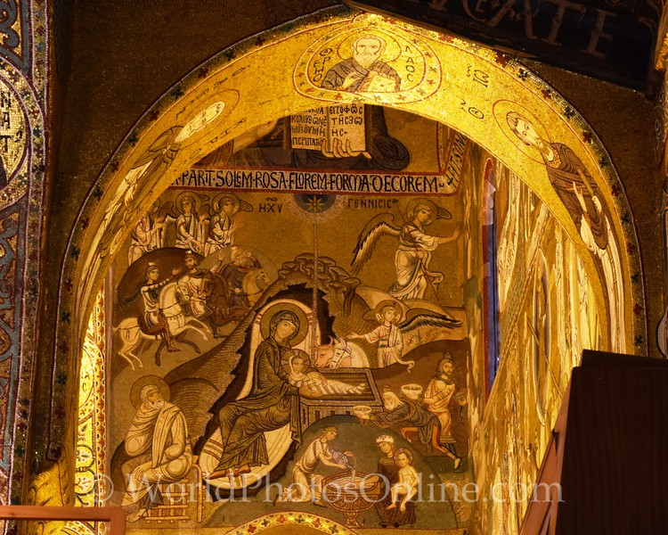 Mosaic of the Birth of Christ in the Palatine Chapel