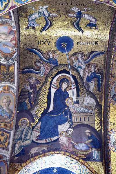 La Martorana - Mosaics - Mary with Jesus