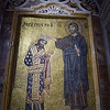 La Martorana - Mosaics - King Roger and Jesus