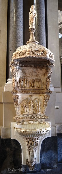 Palermo Cathedral Holy Water Fount