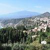 View of Taormina & Mt Etna from the Ancient Greek/Roman  Amphitheater