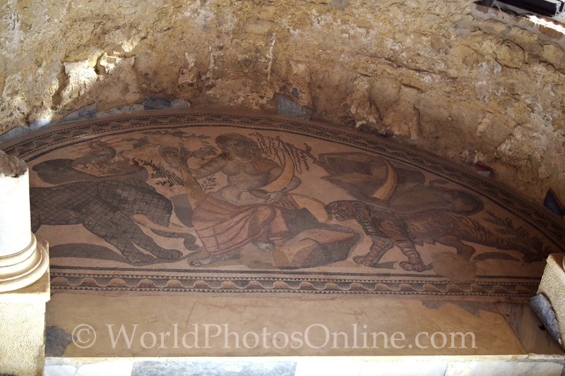Mosaic of Africa at the Right Alcove of the Great Hunt on Grand Corridor