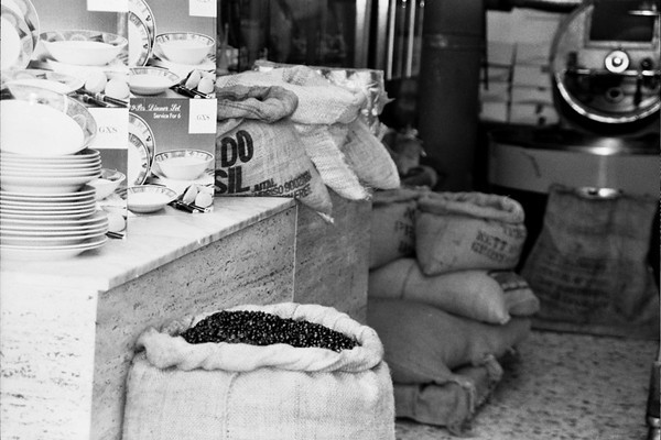 Coffee Roaster on a Market Street - Palermo, Sicily