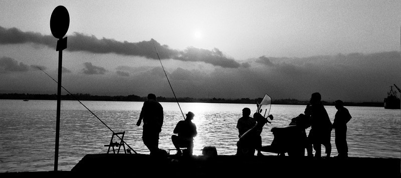Casting at Sunset - Siracusa, Sicily