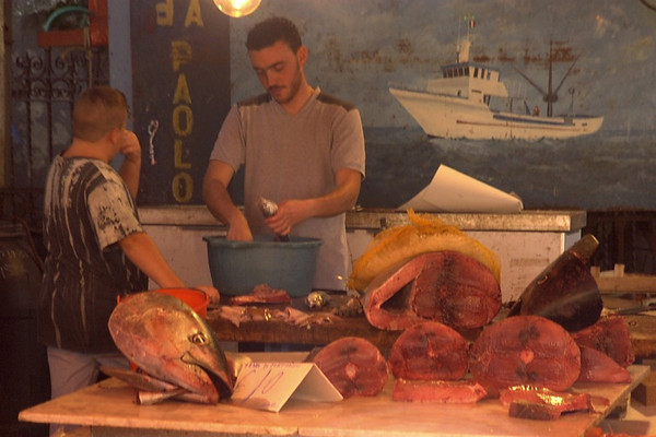 Fish Vendor - Palermo, Sicily
