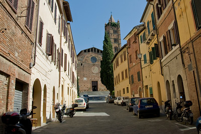 The Church of Santa Maria dei Servi in Siena, Italy