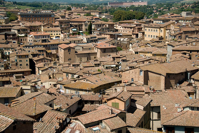 Rooftops and skyline at Siena, Italy
