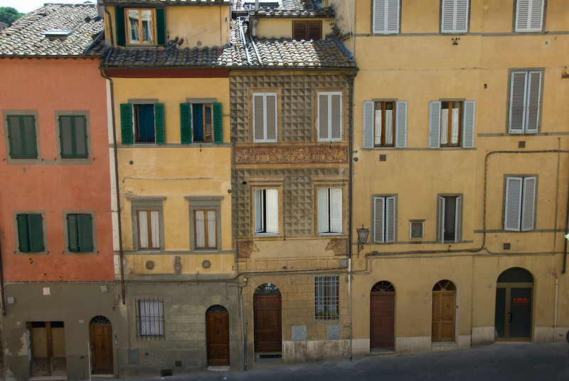 Row of buildings in Siena, Italy