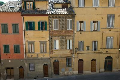 Row of buildings in Siena, Italy
