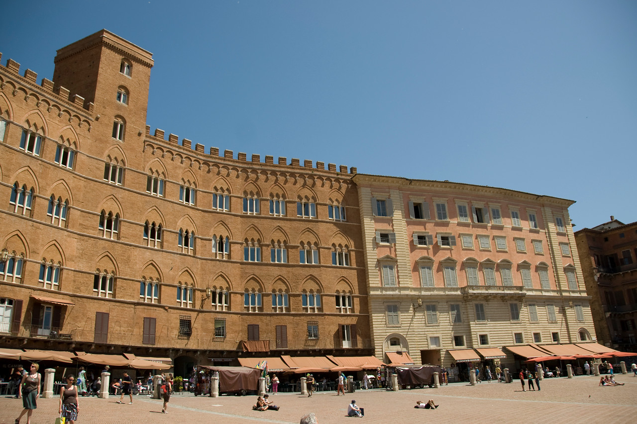 Buildings at the Piazza del Campo in Siena, Italy