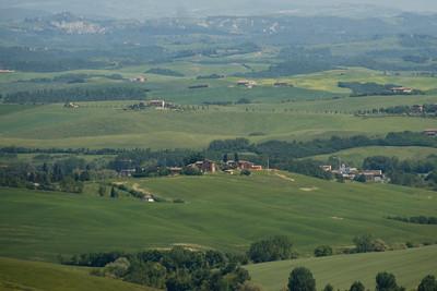 Green fields in Siena, Italy