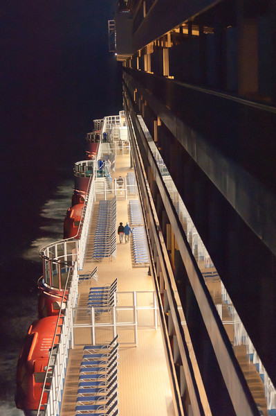 View from the cruise ship at night - Italy