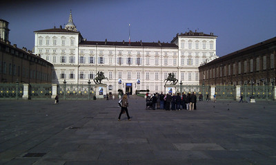 Palazzo Reale at the end of the square