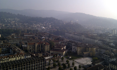 View from the top of the Museo Nazionale del Cinema
