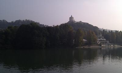 View across the river towards the Museo Nazionale della Montagna Duca degli Abruzzi