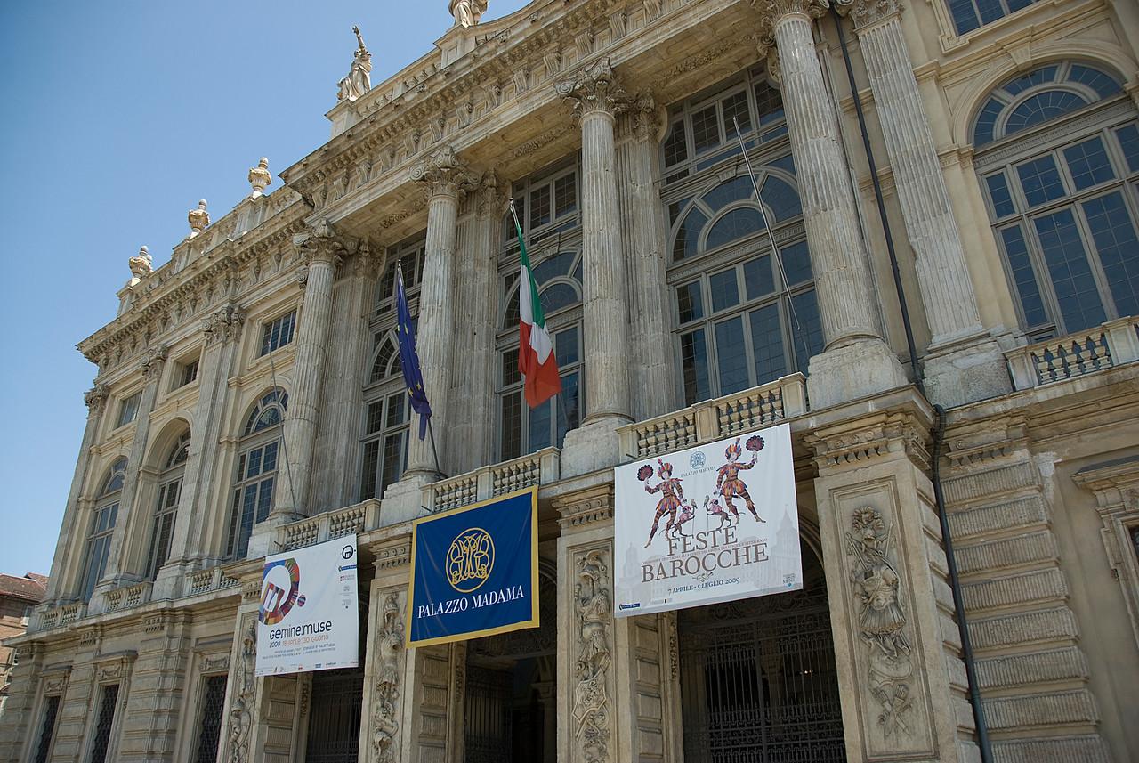 Palazzo Madama facade in Turin, Italy