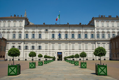 Royal Palace of Turin facade in Turin, Italy